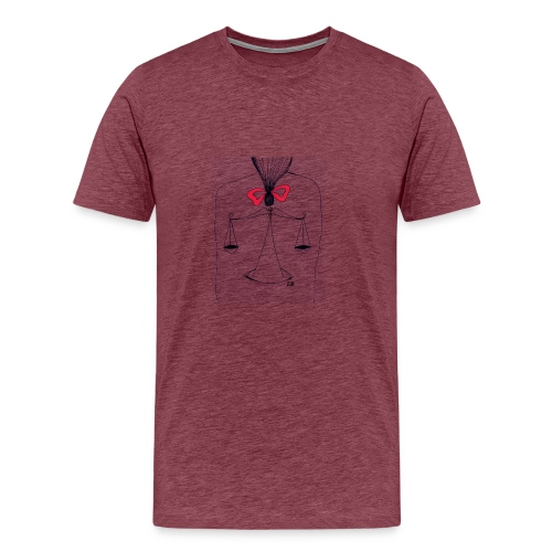 Libra Horoscope - Premium-T-shirt herr