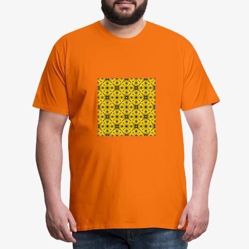 Design motifs jaune et noir - T-shirt Premium Homme