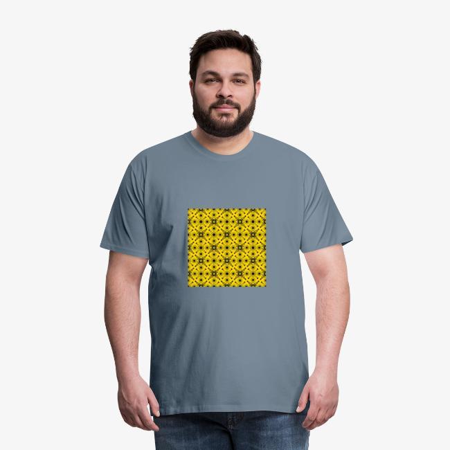 Design motifs jaune et noir