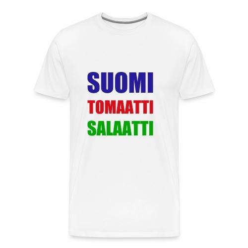 SUOMI SALAATTI tomater - Premium T-skjorte for menn