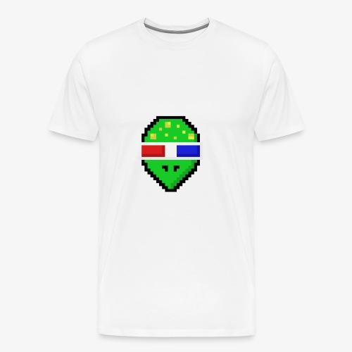 Pixel Alien - Männer Premium T-Shirt