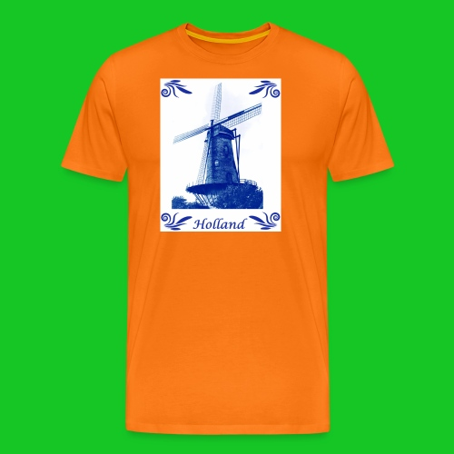 Delfts Blauw Molen - Mannen Premium T-shirt