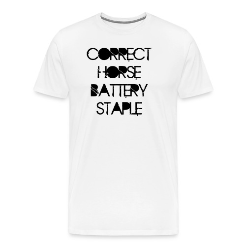 Correct Horse Battery Staple - Männer Premium T-Shirt