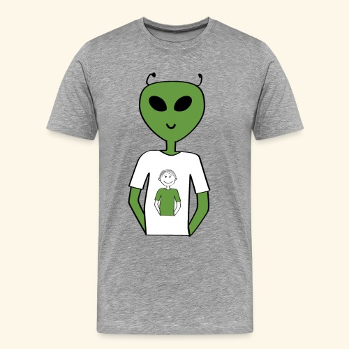 Alien human T shirt - Premium-T-shirt herr