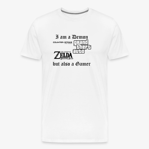 Demon also gamer - Männer Premium T-Shirt