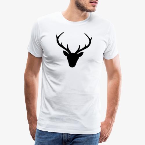 Hirsch Geweih Silhouette Jagd Jäger JGA Geschenk - Männer Premium T-Shirt
