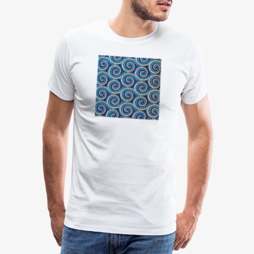 Spirales au motif bleu - T-shirt Premium Homme
