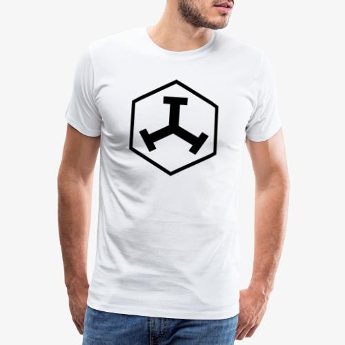 TTT Logo Hexagon Black - Männer Premium T-Shirt