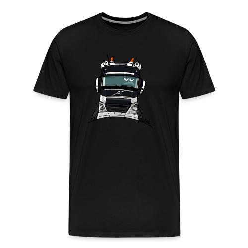 0488 V truck wit - Mannen Premium T-shirt