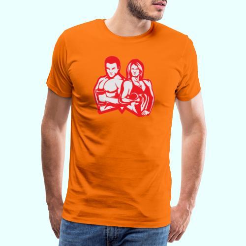 Man & woman NLB - Miesten premium t-paita