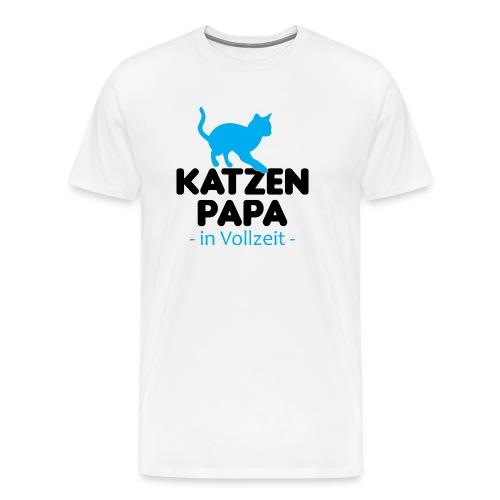 Katze Mann Geschenk Papa Vollzeit Katzenliebhaber - Männer Premium T-Shirt