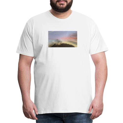 pink sky - Herre premium T-shirt