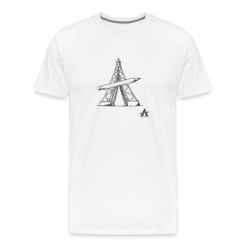Tour Eiffel Crayon - T-shirt Premium Homme