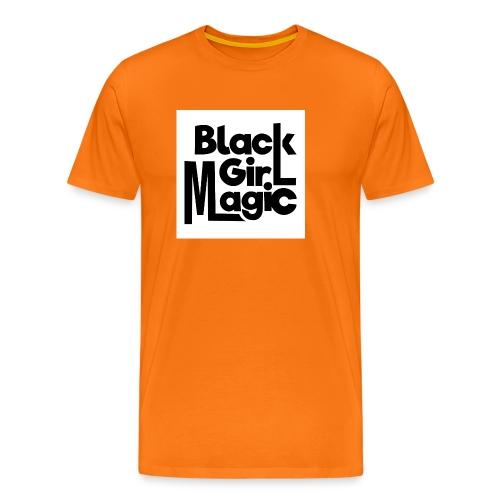Black Girl Magic 2 Black Text - Men's Premium T-Shirt