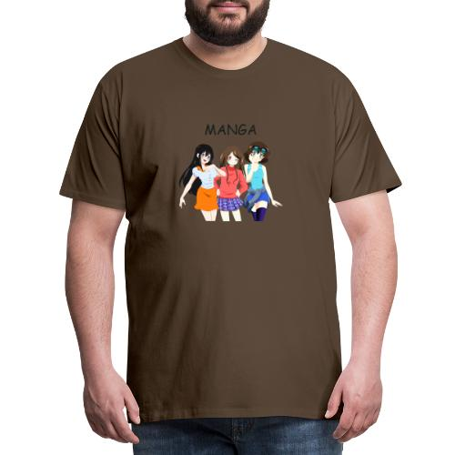 Anime Gruppe 3 Girls, Text Manga - Männer Premium T-Shirt