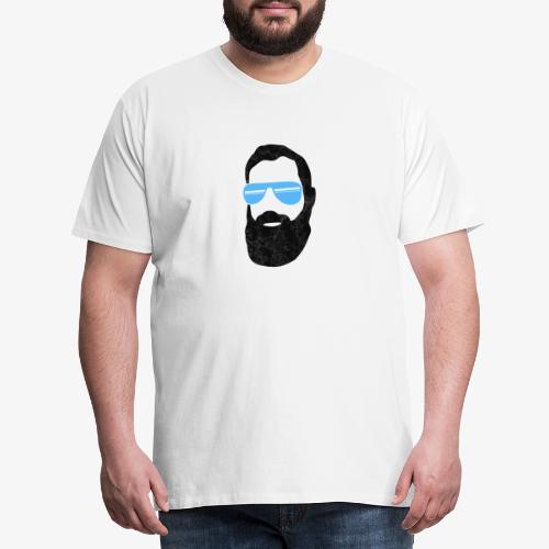 Hipster mit blauer Sonnenbrille - Männer Premium T-Shirt