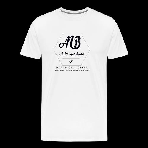 Beard Oil | Oliva Logo - Männer Premium T-Shirt