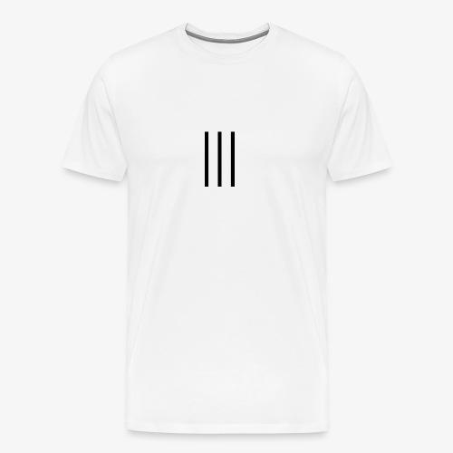 3LINE BLACK - Maglietta Premium da uomo