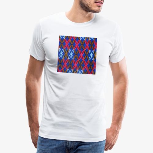 Design motifs bleu rose orange marron - T-shirt Premium Homme