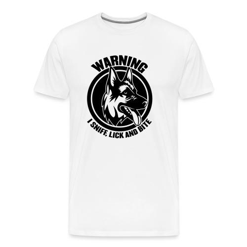 DOG WARNING - Men's Premium T-Shirt