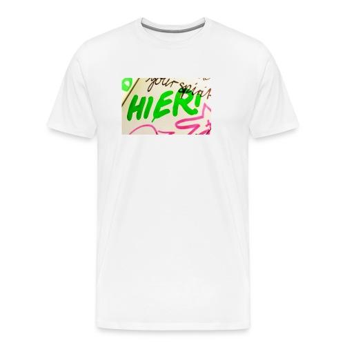 HIER! - Männer Premium T-Shirt