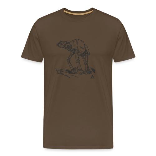 AT AT Walker ligne d'esquisse - T-shirt Premium Homme
