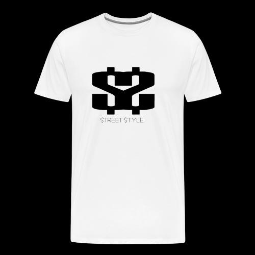$$ BLACK LOGO - Premium-T-shirt herr