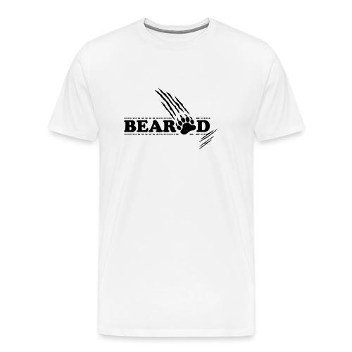 Beard Bart mit Fote Design - Männer Premium T-Shirt
