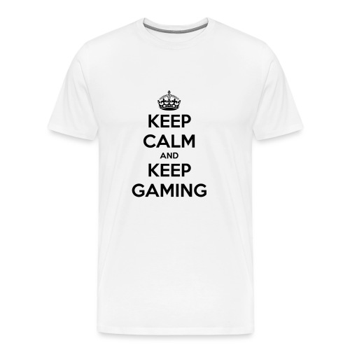 keep calm and keep gaming - Men's Premium T-Shirt