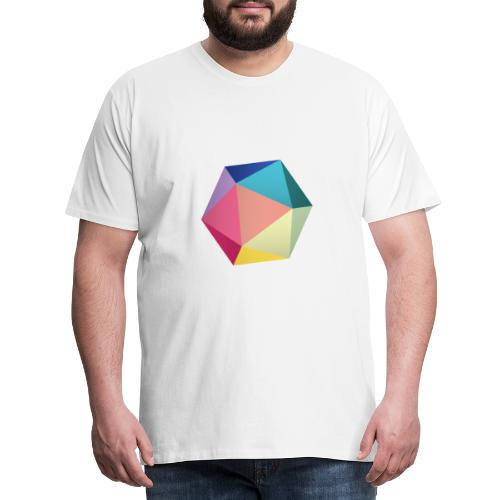 Colourfull d20 - D&D Dungeons and dragons dnd - T-shirt Premium Homme