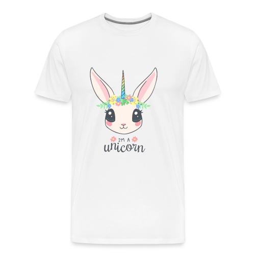 Einhorn Hase - Männer Premium T-Shirt