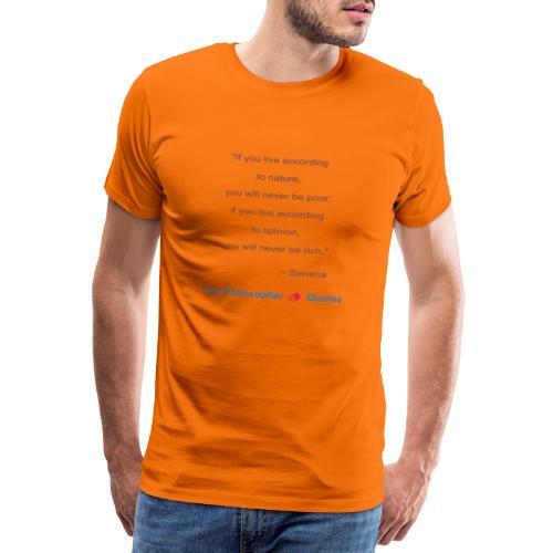 Seneca Living according to opinion Philosopher b - Mannen Premium T-shirt