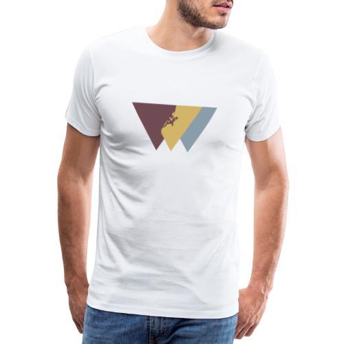 Klettrerin beim Klettern - Männer Premium T-Shirt