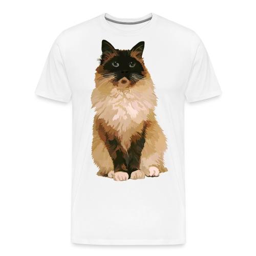 Ragdoll-Katze 1 - Männer Premium T-Shirt