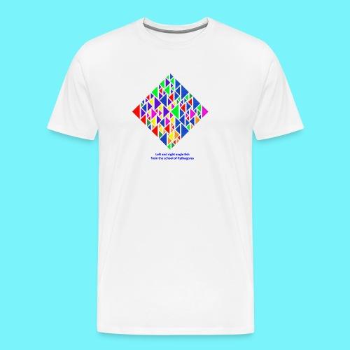 Left and right angle fish, school of Pythagoras - Men's Premium T-Shirt