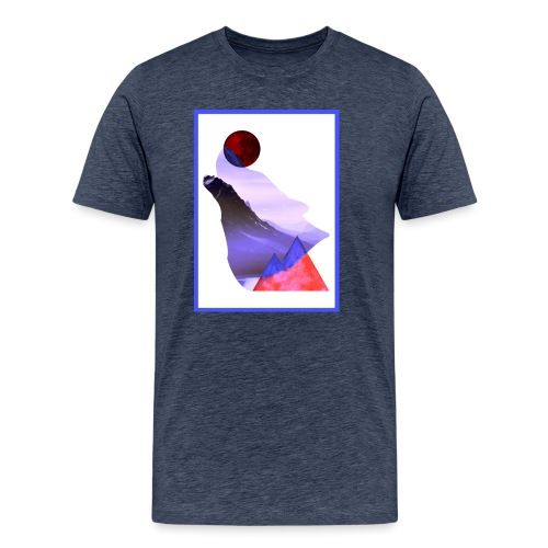 Måne Ulv - Laurids B Design - Herre premium T-shirt