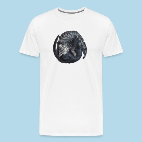 Yin & Yang Katzen - Geschenkidee - Kätzchen - süß - Männer Premium T-Shirt
