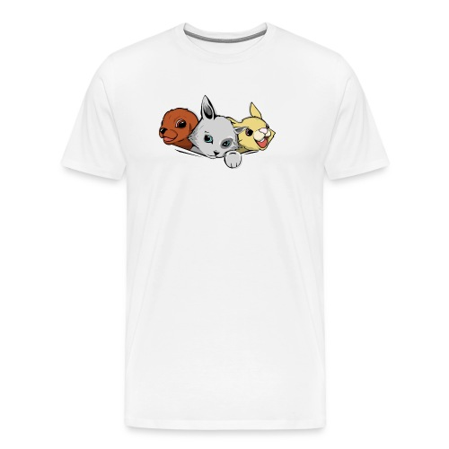 Un chaton un lapin un chiot - T-shirt Premium Homme