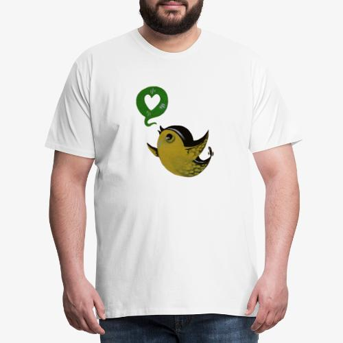 Streetart Vogel Liebe Freiheit - Männer Premium T-Shirt