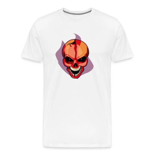 craneo huesudo y roto - Camiseta premium hombre