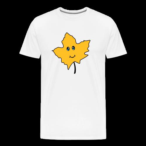 Herbst Blatt Comic Niedlich - Männer Premium T-Shirt