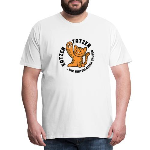 Katzentatzen Logo - Männer Premium T-Shirt