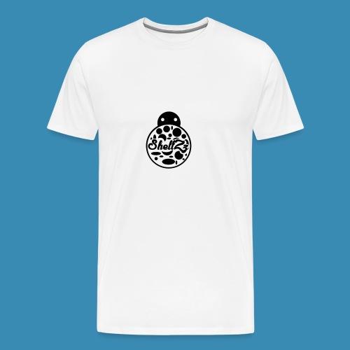 ShellZz Logo Invert - Men's Premium T-Shirt
