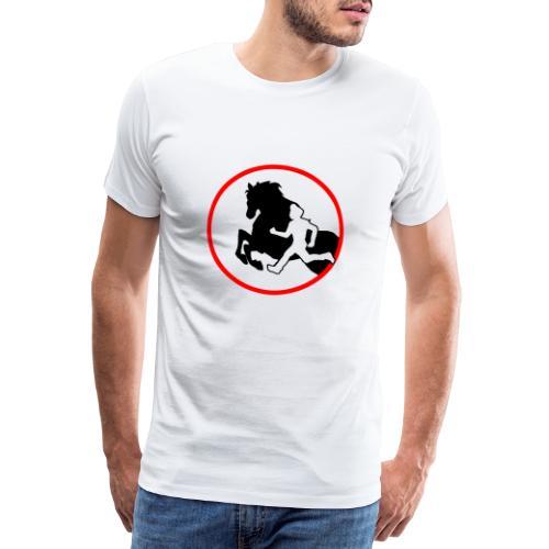 Horse Agility Logo - Männer Premium T-Shirt