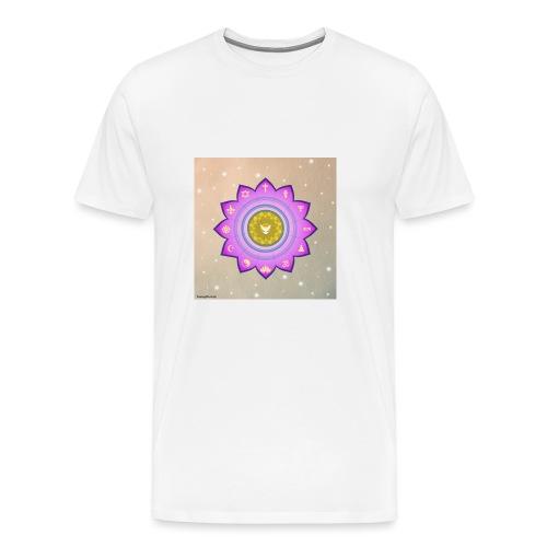 0 1 Dove Surrounded by Religious Symbols. - Men's Premium T-Shirt