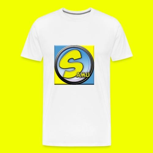 samu-logo V2 best - Premium T-skjorte for menn