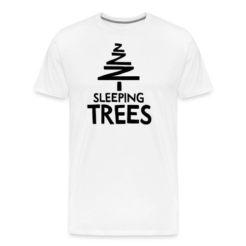 SleepingTrees Black png - Men's Premium T-Shirt
