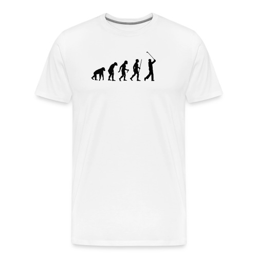 Evolution of Man Golf - Herre premium T-shirt