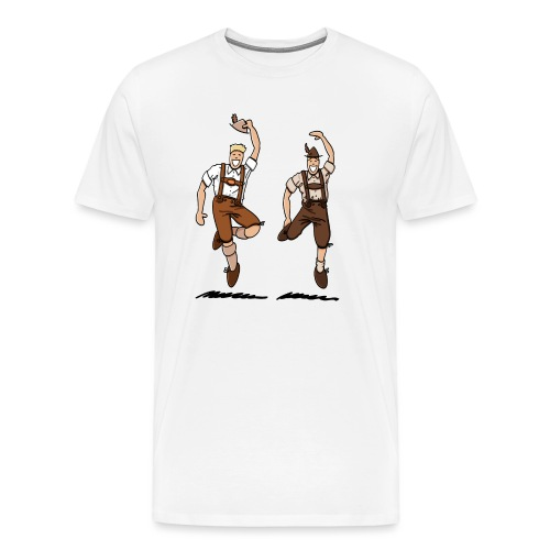 Two Bavarian Lederhosen Men - Männer Premium T-Shirt