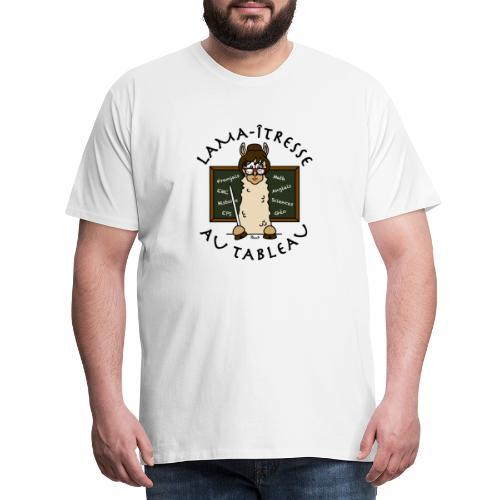 Lama-îtresse, tableau, maîtresse, cadeau, vacances - T-shirt Premium Homme